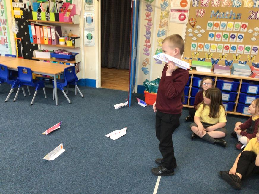 We learnt all about Amelia Earhart and flying.