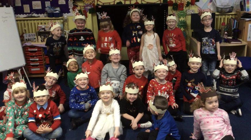 Christmas Celebrations; the Reindeer Run, Christmas Jumper Day and party food and games.
