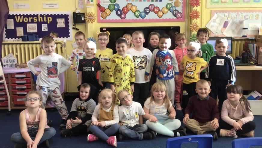 We dressed up to raise money for Children in Need.