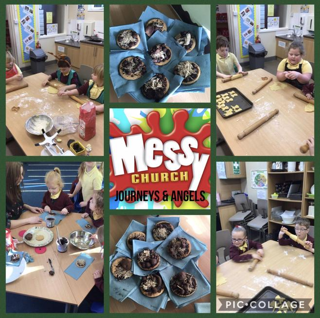 We learned about the Christmas Story through a range of 'Messy Church' activities.