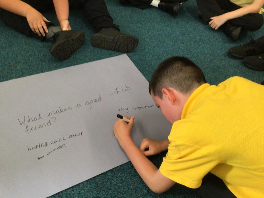 Thinking about friendships in PSHE