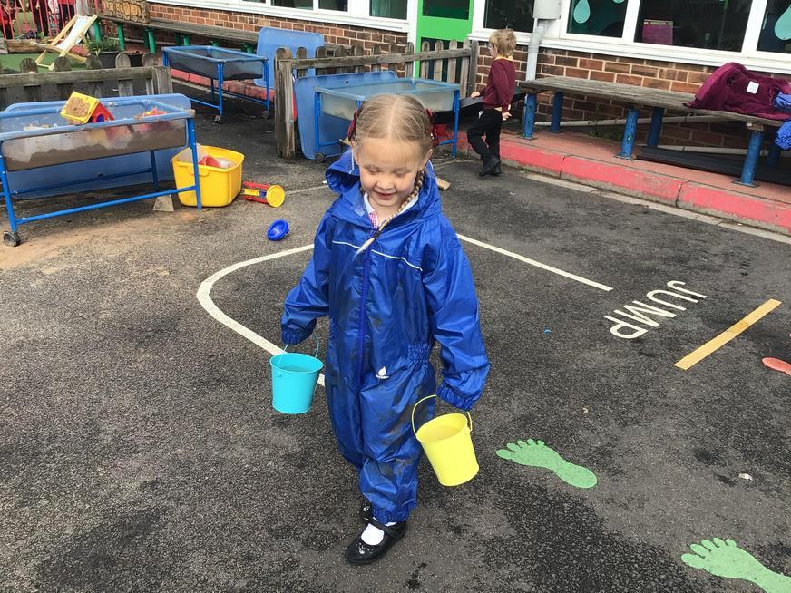 Carrying water linked to our work on Africa and Christian Aid week.