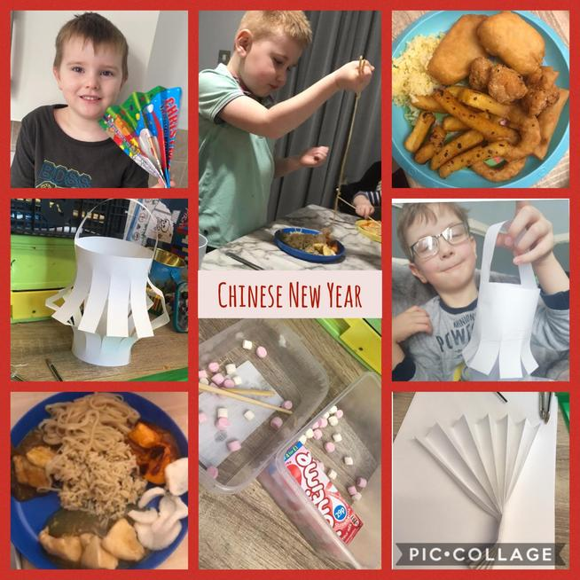 We made fans, lanterns and tried Chinese food to celebrate Chinese New Year.