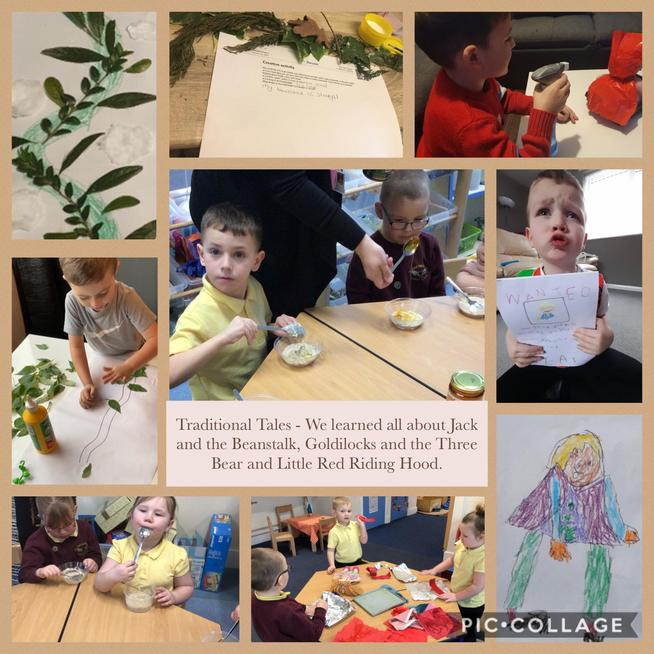 We explored lots of Traditional Tales.