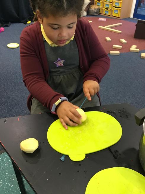 Making vegetable soup.