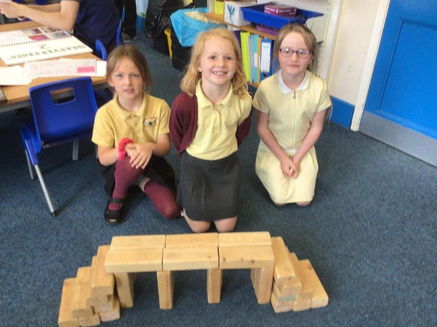 We built our own bridges from different materials.