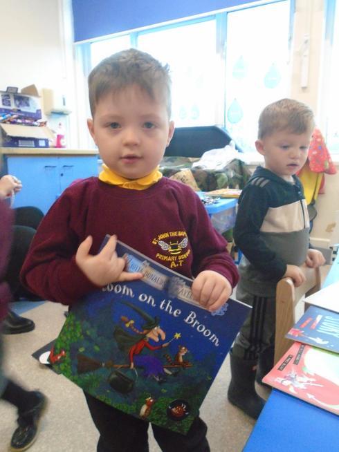 We chose a book to take home.