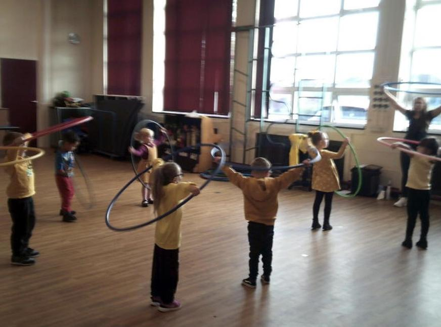 We had lots of fun practising our hooping skills.