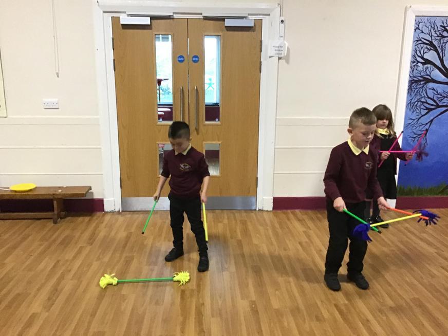 We had fun learning circus skills.