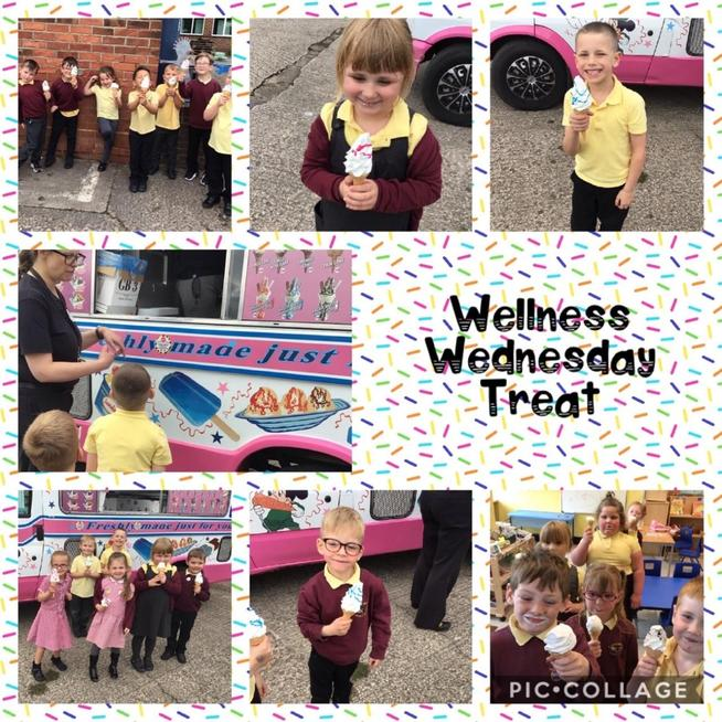 As part of Wellness Wednesday, we enjoyed an ice cream.