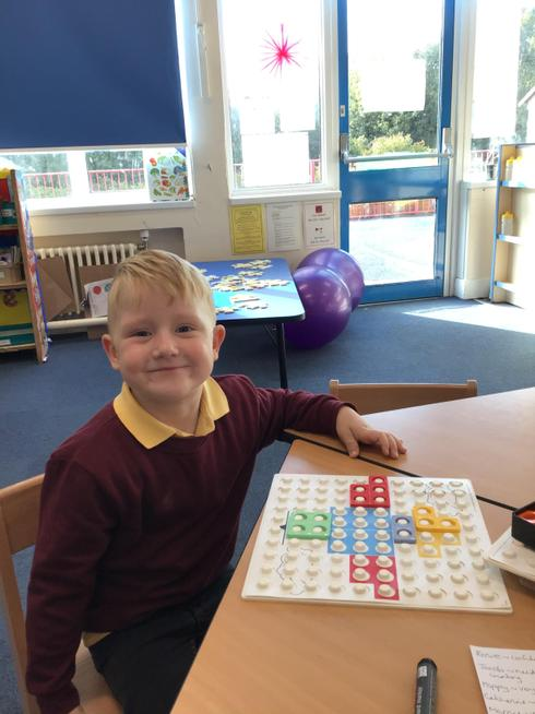 Using Numicon to help us count.