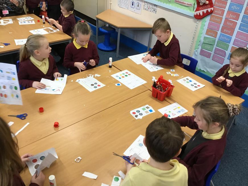 We learnt all about 2D shapes and sorted them into groups.