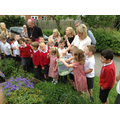 Bishop Tom watched us set the butterflies free!