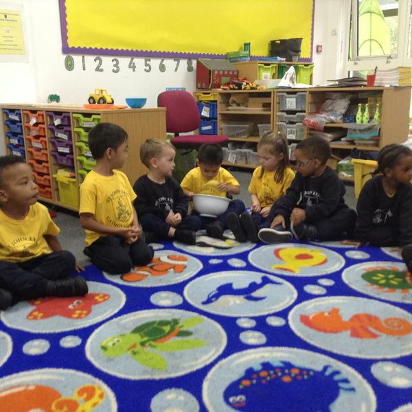 Circle Time - exploring the fruit that God gave us