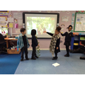 Acting out scenes from The Tempest