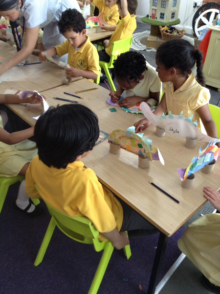 We got to make some dinosaurs with West London Zone!