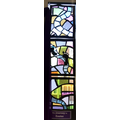 Each class' created a stain glass window on a Station of the Cross