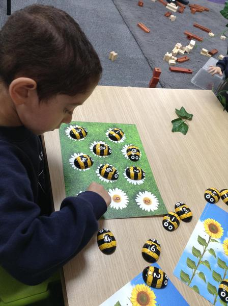 We celebrated bee day.