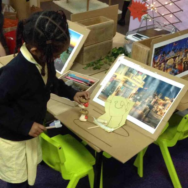 We role played the story using story maps and puppets which we created.