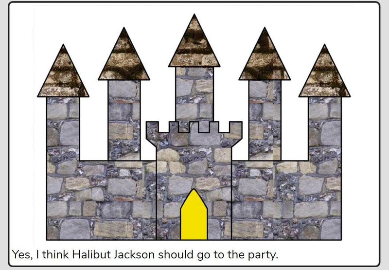 We used Purple Mash to design the Queen's Palace in Halibut Jackson.