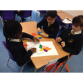 Year 3 using shapes to create their kites