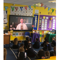 Watching the Diocese of Westminster's virtual Mass for schools