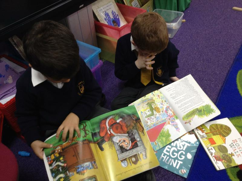 We love to read our favourite stories together...