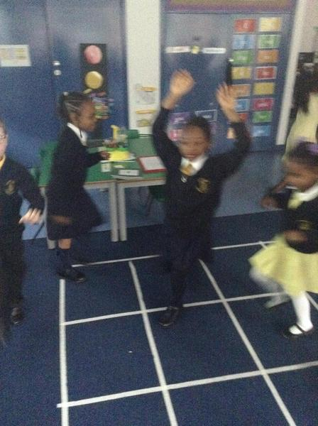 We can act out parts of the Gruffalo!