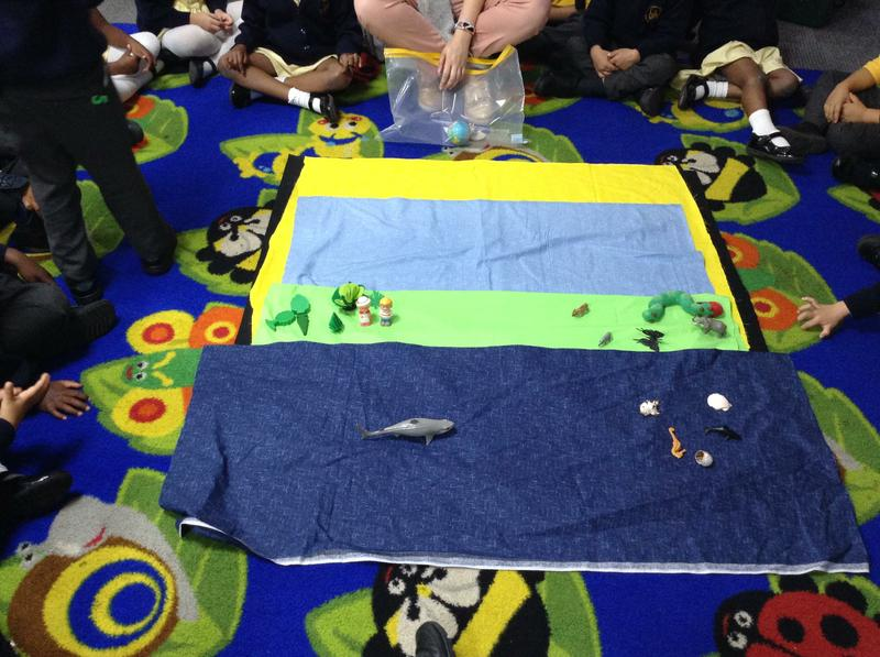 We use Godly Play to learn the Creation Story