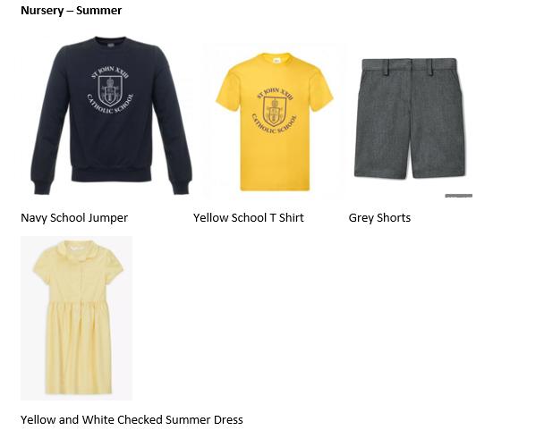 Nursery Summer Uniform