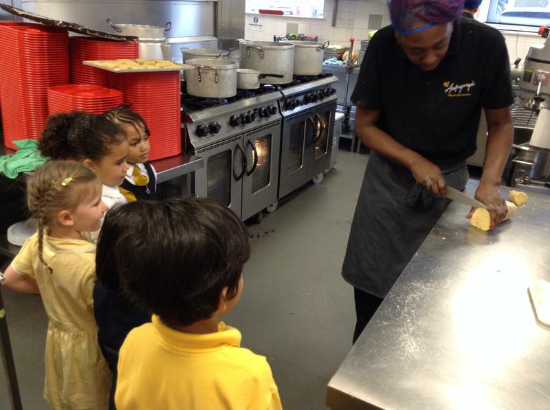 We loved meeting our School Chef Stephanie