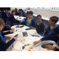 Year 6 African Mask painting