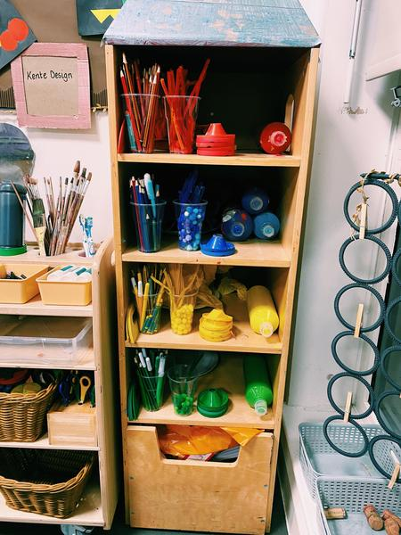 Thoughtful storage to help our children easily access what they need.