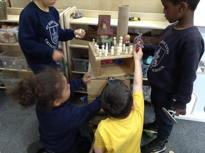 We love building with the loose parts.
