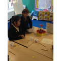We made our own bird feeders and then wrote our own instructions explaining how to do it.