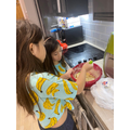 Pancake making with Jewel and Chelsea