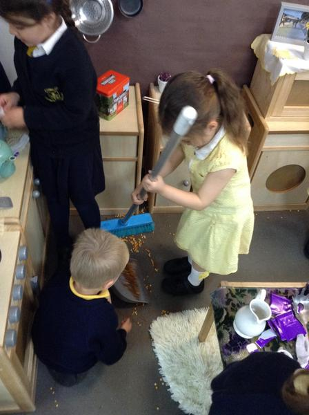 We learn how to respect and look after our home corner.