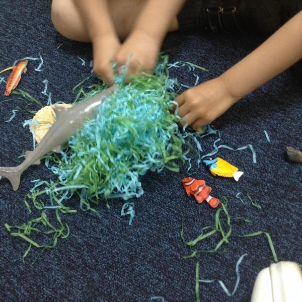 The children enjoyed creating their own under the sea small world.
