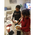 Pancake making with Liya and Ruth