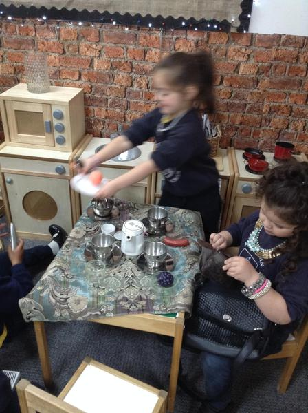 The children have loved making dinners for each other in the home corner.