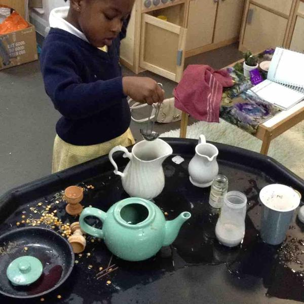 Authentic water play, fancy a cuppa?