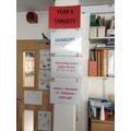 English targets displayed