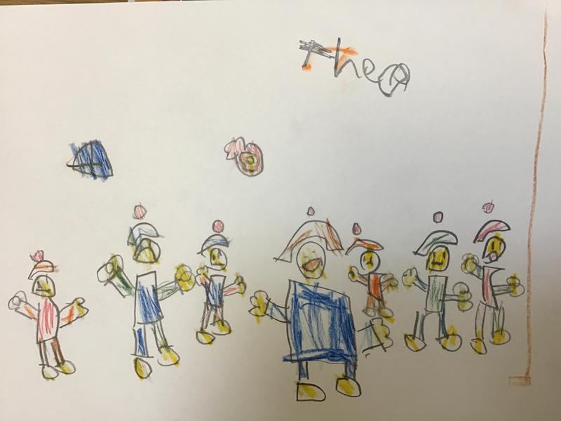 Theo created his image of Pentecost