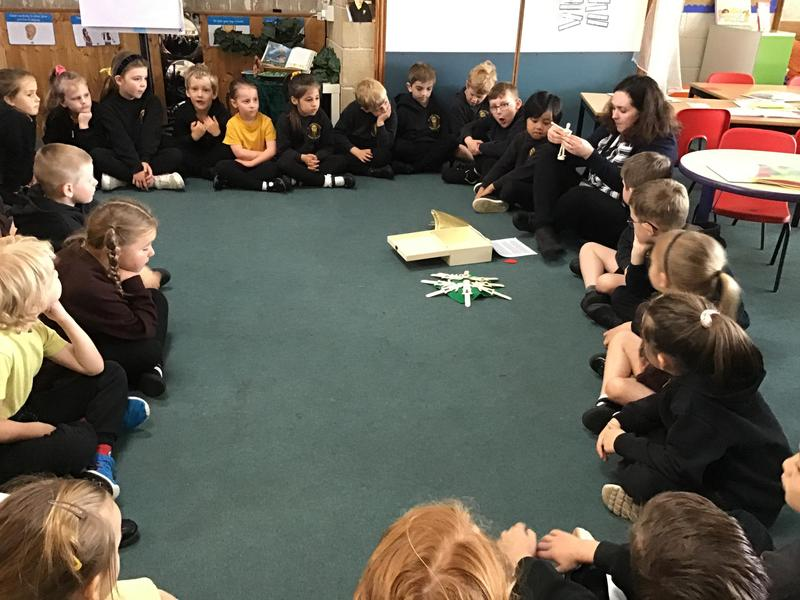 KS1 reflected on the Bible scripture using Godly Play