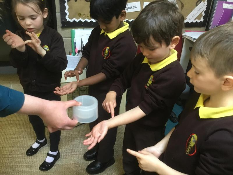 Our youngest learners are exploring the symbol of oil