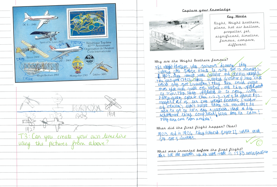 Wilf's History Work - The Wright Brothers
