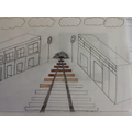 1 and 2 point perspective, as well as geometric repeated patterns