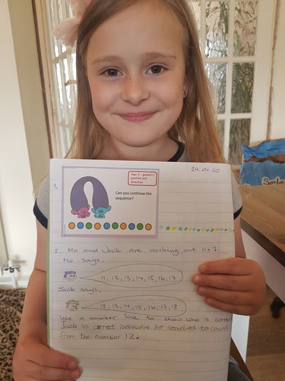 Look who has completed the Maths Challenge.