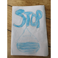 Leo's pollution poster.