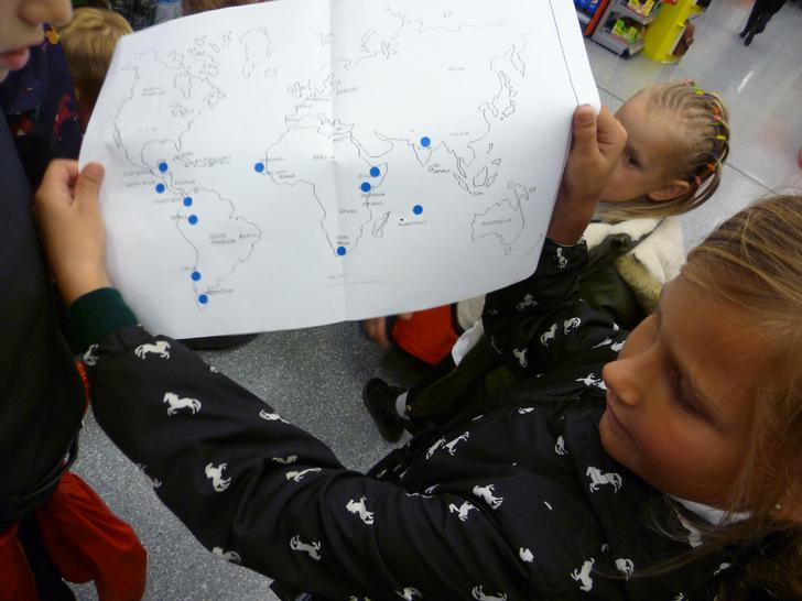 Plotting our finds on a world map